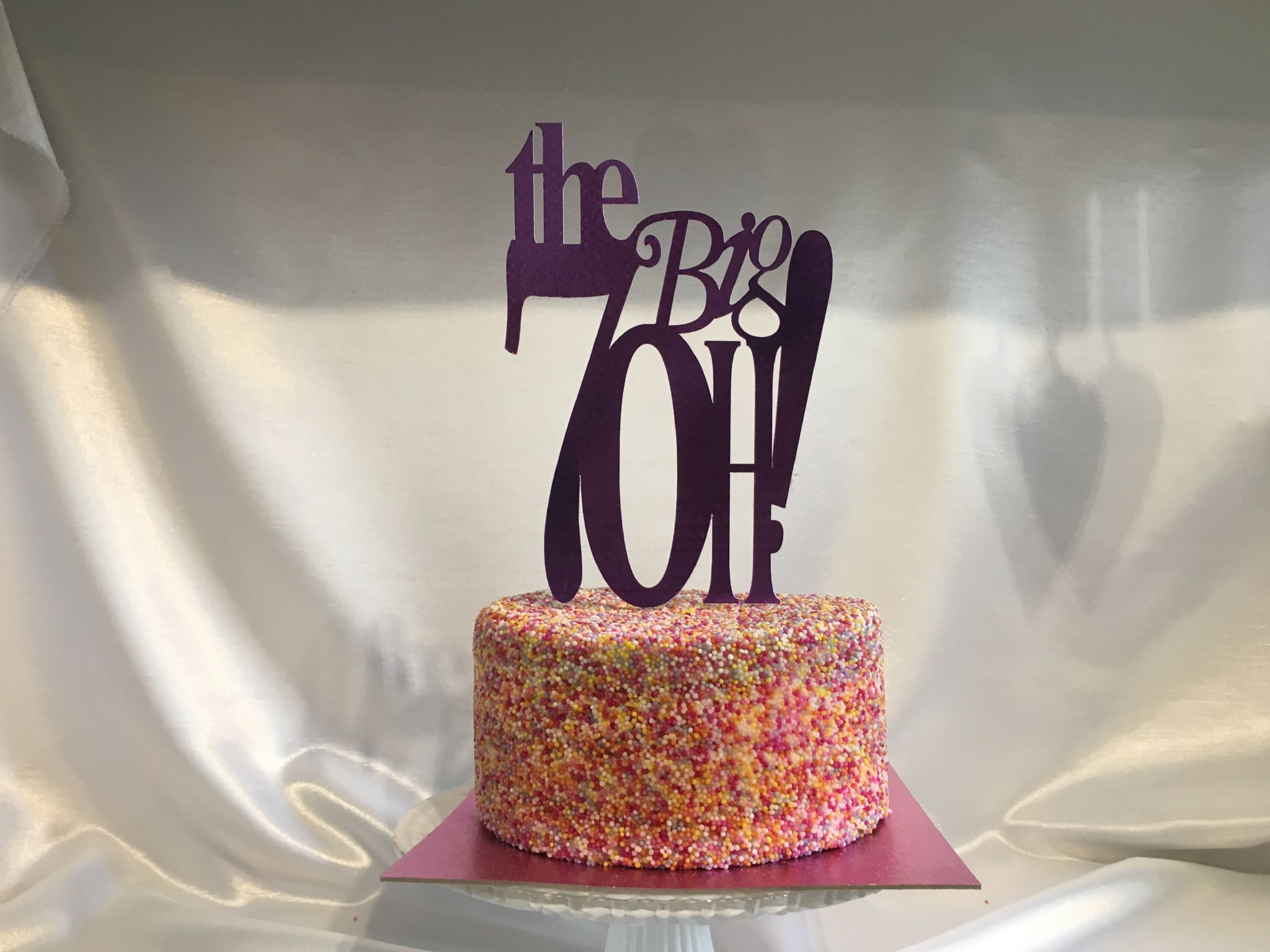 Birthday The Big 4oh 5oh 6oh Gold Foil Card Cake Pick